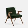 armchairs, furniture, interior-design, greenery-en, 366 BUNNY ARMCHAIR VELVET - 366 Concept Bunny Armchair W03 Velvet Bottle Green 100x100