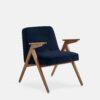 armchairs, furniture, interior-design, greenery-en, 366 BUNNY ARMCHAIR VELVET - 366 Concept Bunny Armchair W03 Velvet Indigo 100x100