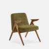 sessel, mobel, wohnen, greenery, SESSEL 366 BUNNY VELVET - 366 Concept Bunny Armchair W03 Velvet Olive 100x100