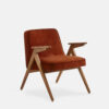 armchairs, furniture, interior-design, greenery-en, 366 BUNNY ARMCHAIR VELVET - 366 Concept Bunny Armchair W03 Velvet Red Brick 100x100