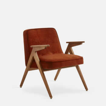 wohnen, sessel, mobel, greenery, SESSEL 366 BUNNY VELVET - 366 Concept Bunny Armchair W03 Velvet Red Brick 350x350