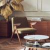 armchairs, furniture, interior-design, greenery-en, 366 BUNNY ARMCHAIR VELVET - 366 Concept Mid Century Apartment Bunny Armchair Velvet Olive W03 Set 2 Marble Tables W03 mood 9 100x100