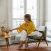 sessel, mobel, wohnen, SESSEL 366 BUNNY TWEED - 366 Concept Paris Apartment II 366 Metal Armchair GG W03 Tweed White mood 100x100