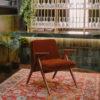 sessel, mobel, wohnen, greenery, SESSEL 366 BUNNY VELVET - 366 Concept Syreni Spiew Bunny Armchair Velvet Red Brick W03 mood 20 100x100
