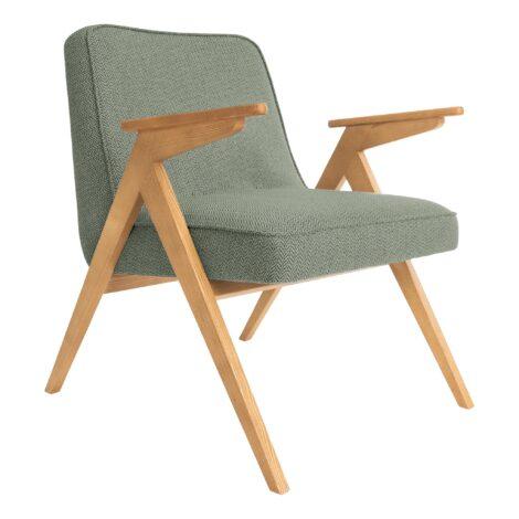 sessel, mobel, wohnen, SESSEL 366 BUNNY TWEED - 366 Concept   Bunny armchair   Tweed 04 Aqua Green   Oak 470x470