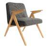 sessel, mobel, wohnen, SESSEL 366 BUNNY TWEED - 366 Concept   Bunny armchair   Tweed 08 Black   Oak 100x100