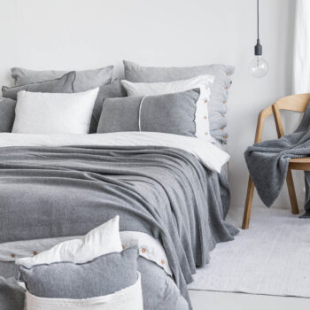 home-fabrics, pillows, interior-design, CUDDLE CUSHION GRAU - 4994 moyha my favorite bedspread grey 5 350x350