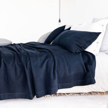 home-fabrics, pillows, interior-design, CUDDLE CUSHION GRAU - 5002 moyha my favorite bedspread navy 4 350x350