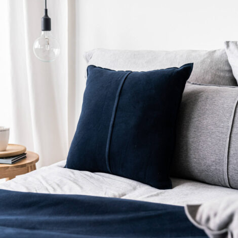 home-fabrics, pillows, interior-design, SNUGGLE CUSHION NAVY - 5034 moyha snuggle cushion navy 5 470x470