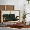 sofas, furniture, interior-design, 2-SEATER 366 BUNNY LOFT - Bunny Series W03 Velvet in Apartment 001 100x100