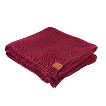 home-fabrics, interior-design, decken-und-ueberwuerfe-en, COTTON BLANKET NAVY BLUE - blanket burgundy30036D XL 5903678201142 4 350x350