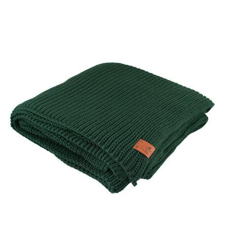 home-fabrics, interior-design, decken-und-ueberwuerfe-en, COTTON BLANKET BOTTLE GREEN - blanket green bottle509D XL 5903678201111 2 470x470