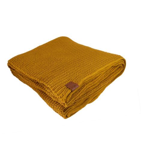 wohntextilien, wohnen, decken-und-ueberwuerfe, BAUMWOLLDECKE SENFGELB - blanket mustard2012km XL 5903678202149 470x470