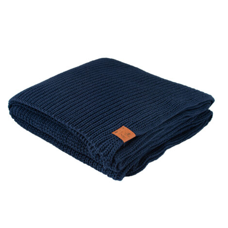 home-fabrics, interior-design, decken-und-ueberwuerfe-en, COTTON BLANKET NAVY BLUE - blanket navy blue70449D XL 5903678201128 3 470x470