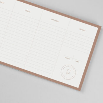 planners-en, paper-goods, WEEKLY DESK PLANNER - Copper desk planner 04 350x350