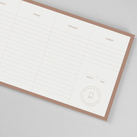 paper-goods, planners-en, WEEKLY DESK PLANNER - Copper desk planner 04 470x470