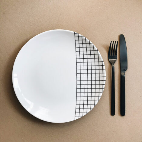 porcelain_and_ceramics, plates, interior-design, LARGE PLATE CHECK - FOR.REST 6 z 34 470x470