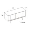 mobel, wohnen, sideboards, SIDEBOARD XOXO KISS - PH dim XOXO L high 100x100