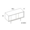 mobel, wohnen, sideboards, SIDEBOARD XOXO KISS - PH dim XOXO M high 100x100