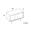 mobel, wohnen, sideboards, SIDEBOARD XOXO KISS - PH dim XOXO S high 100x100