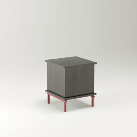 furniture, interior-design, bedside-cabinets, BEDSIDE CABINET UMAMI XS - UMAMI XS black rudyred 470x470
