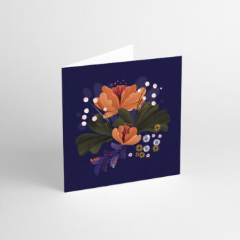 postcards-and-greeting-cards, paper-goods, GREETING CARD FLORA I - aniarudak 1 350x350
