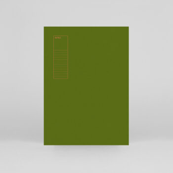 paper-goods, notebooks, NOTEBOOK LEKKI BROWN - CHECKED - lekki notebook green 00 350x350