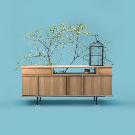 mobel, wohnen, sideboards, SIDEBOARD UMAMI 3 - phormy UMAMI oak 1 bird 470x470