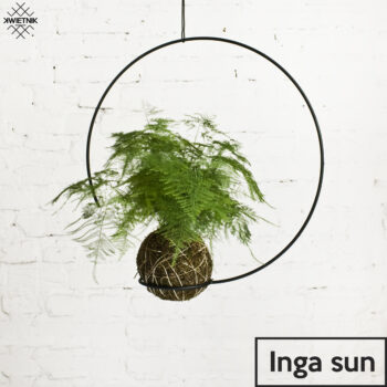 plant-stands, interior-design, home-accessories, SUSPENDED KOKEDAMA HOLDER INGA SUN - KWIETNI INGA SUN 350x350