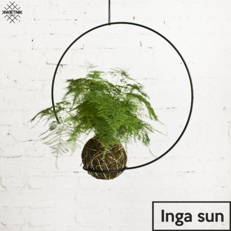 home-accessories, plant-stands, interior-design, SUSPENDED KOKEDAMA HOLDER INGA SUN - KWIETNI INGA SUN 470x470