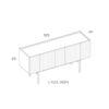 mobel, wohnen, sideboards, SIDEBOARD ORTO FULL HIGH - PH dim ORTO L Full High 100x100