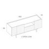 mobel, wohnen, sideboards, SIDEBOARD ORTO OPEN LOW - PH dim ORTO L Open Low 100x100