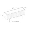mobel, wohnen, sideboards, SIDEBOARD ORTO FULL HIGH - PH dim ORTO XL Full High 100x100