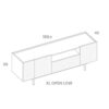 mobel, wohnen, sideboards, SIDEBOARD ORTO OPEN LOW - PH dim ORTO XL Open Low 100x100