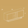 mobel, wohnen, sideboards, SIDEBOARD UNITY - PH dim UNITY M 100x100