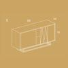 mobel, wohnen, sideboards, SIDEBOARD UNITY - PH dim UNITY S 100x100