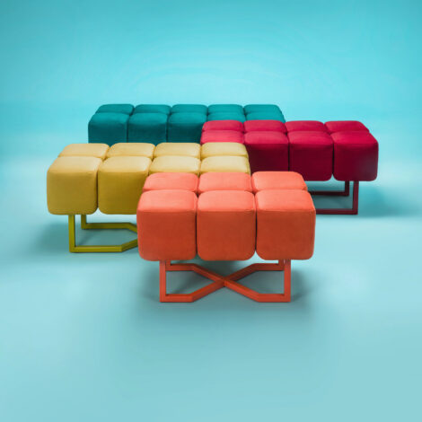 stools, furniture, interior-design, footrests, BENCH PUFFY - Puffy Family kwadrat MAX 470x470