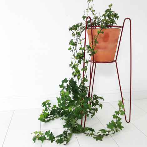 home-accessories, plant-stands, interior-design, FLOWER POT STAND ERNEST BURGUNDY - ernest2 470x470