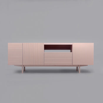 wohnen, sideboards, mobel, SIDEBOARD ORTO OPEN LOW - orto pink 4 350x350