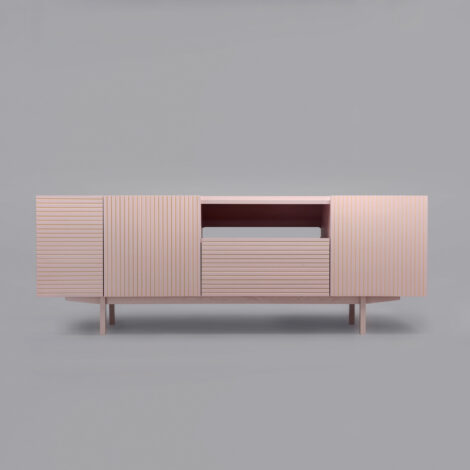 mobel, wohnen, sideboards, SIDEBOARD ORTO OPEN LOW - orto pink 4 470x470