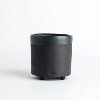 porcelain_and_ceramics, interior-design, home-accessories, flower-pots, cups, FLOWER POT ALL BLACK 500 - 500 BLACK W10 350x350