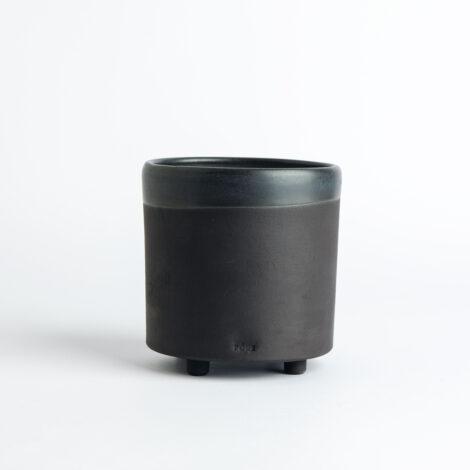 cups, porcelain_and_ceramics, home-accessories, interior-design, flower-pots, FLOWER POT ALL BLACK 500 - 500 BLACK W10 470x470
