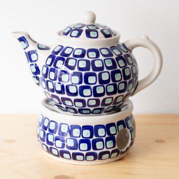 pots, porcelain_and_ceramics, interior-design, TEA POT WITH WARMER 60'S - QY1C0676 350x350