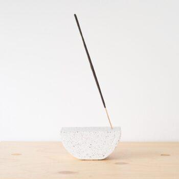 interior-design, incense-stick-holders, home-accessories, INCENSE STICK HOLDER SEMICIRCLE STRACCIATELLA - QY1C0783 350x350
