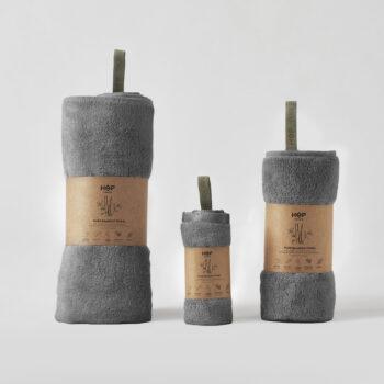 handtuecher-en, interior-design, home-fabrics, TOWEL PURE BAMBOO DARK GREY - recznik bamboo ciemny szary 2 350x350