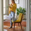 chairs, furniture, interior-design, CHAIR 200-125 VAR SHINY VELVET - 366 Concept Paris Apartment II Var Shine Velvet Mustard W05 mood 19 kopia 2 100x100
