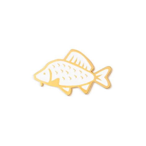 jewellery, sale-en, pins-en, jewellery-sale, PIN WHITE COMMON CARP - 516 bialy 470x470