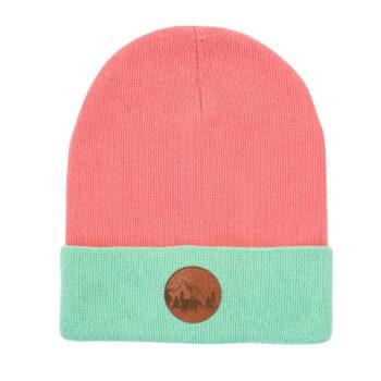sale, mutzen, bekleidung, accessoires-sale, accessoires-bekleidung, BEANIE CORAL+MINT - hat beanie cotton wrap pink306M 50056L 5906742640830 350x350