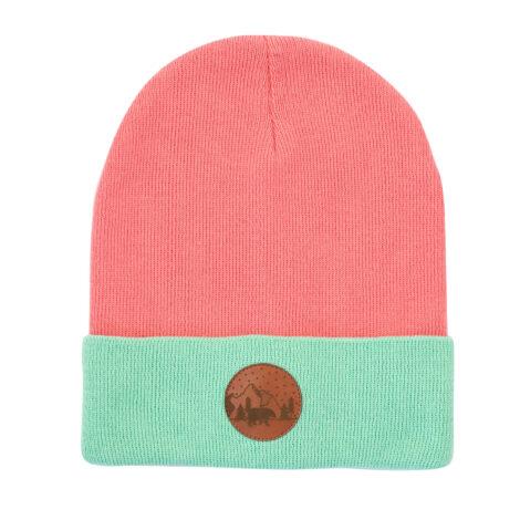 bekleidung, sale, mutzen, accessoires-sale, accessoires-bekleidung, BEANIE CORAL+MINT - hat beanie cotton wrap pink306M 50056L 5906742640830 470x470