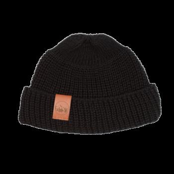 bekleidung, sale, mutzen, accessoires-sale, accessoires-bekleidung, KURZE MÜTZE SENFGELB - hat short thick knitted cotton black 5906742648614 350x350
